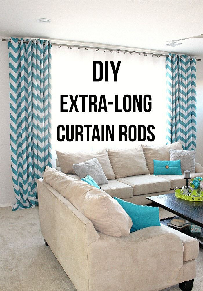 How To Make Extra Long DIY Curtain Rods With Electrical Conduit- Learn how to ma…