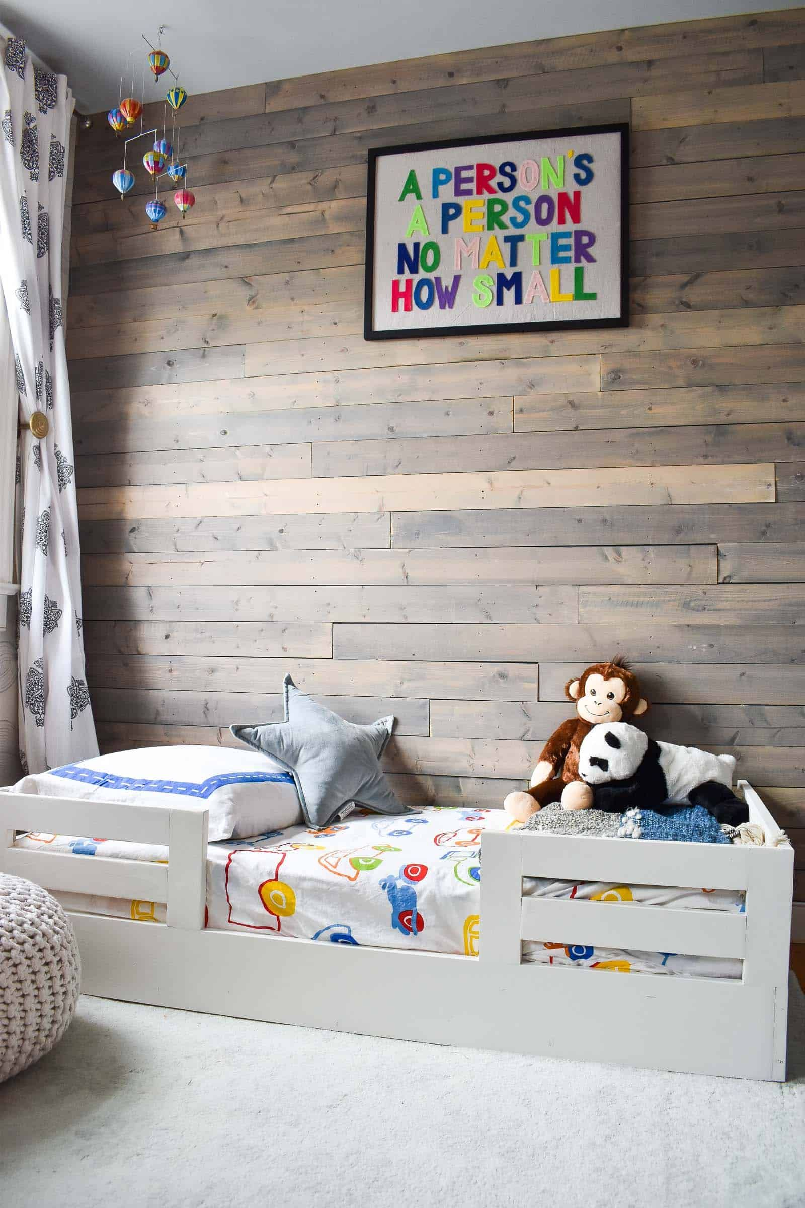 How to Build a Toddler Bed with Bed Rails – At Charlotte's House