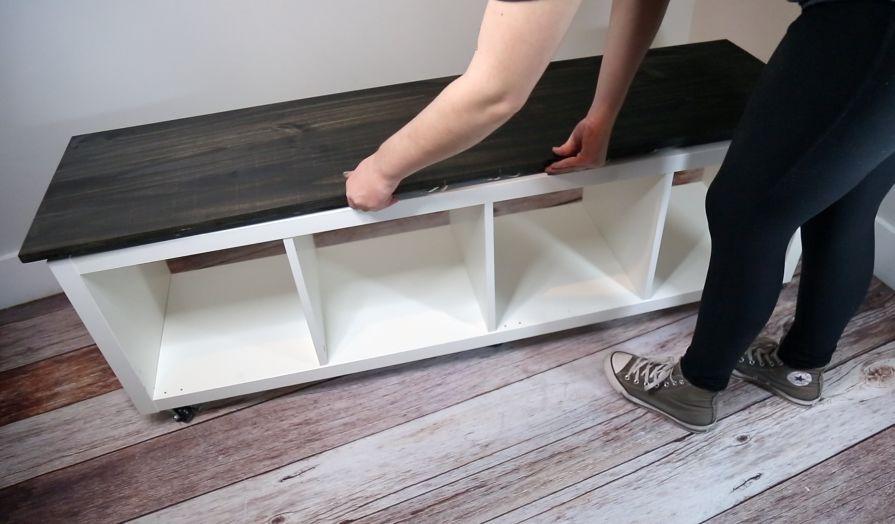 How to Build an IKEA KALLAX Storage Bench DIY