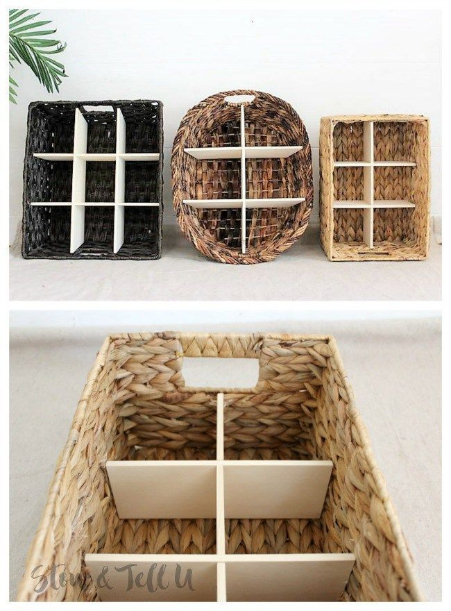 How to Make a Wicker Divided Basket with Wood Inserts