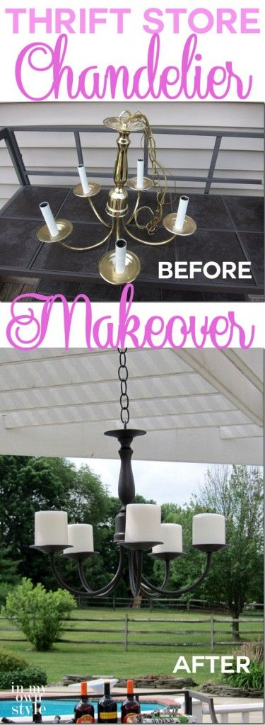 How to Make an Outdoor Candle Chandelier | InMyOwnStyle