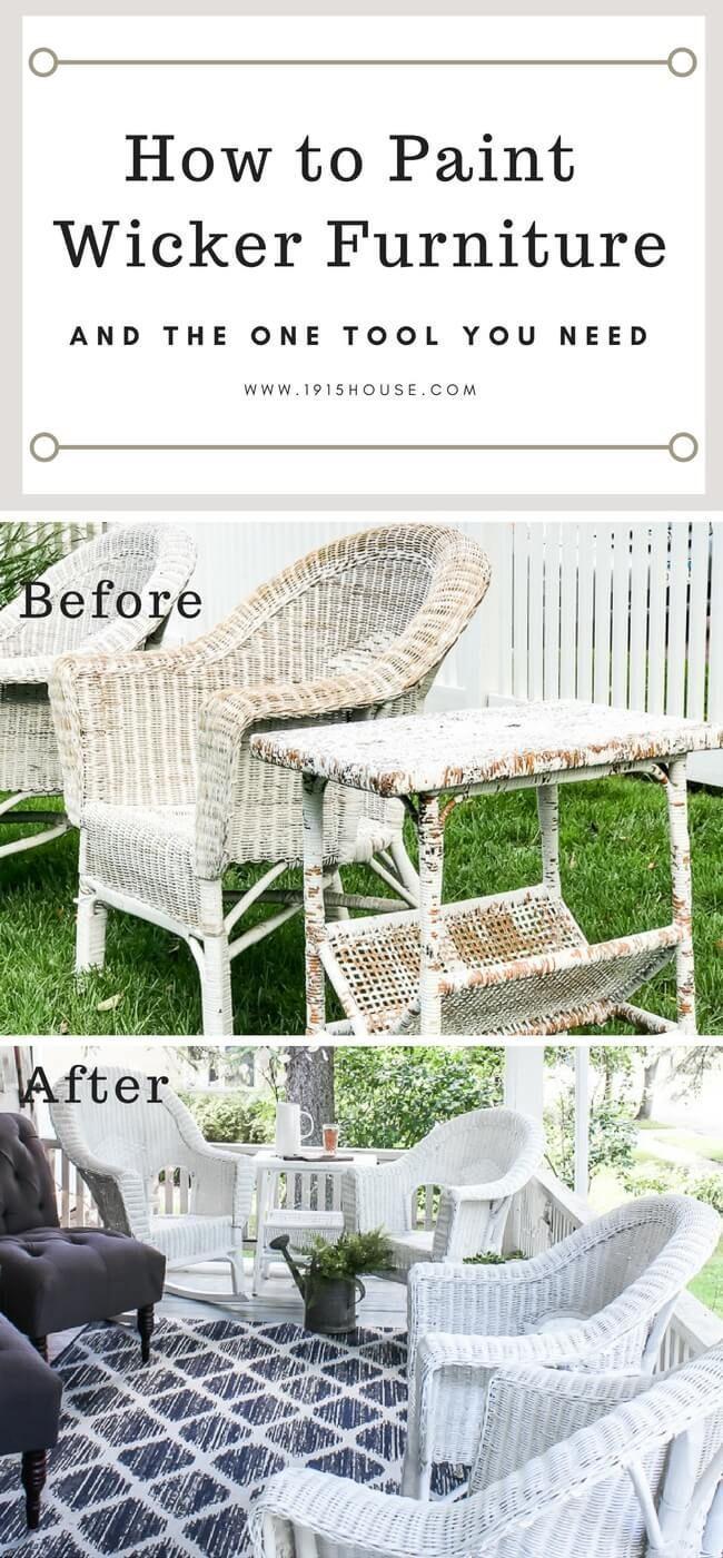 How to Paint Wicker Furniture for a Long Lasting Finish – worldefashion.com/decor