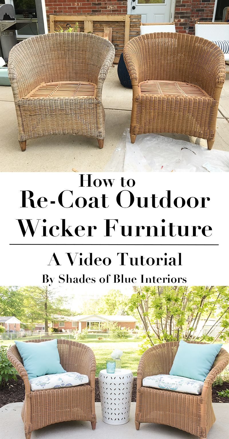 How to Re-Coat Wicker Furniture – Shades of Blue Interiors