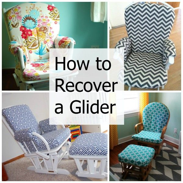 How to Recover a Nursery Glider – Design Dazzle