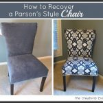 How to Recover a Parson's Style Chair {Furniture Revamp}...