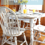 How to Revamp Your Old Kitchen Table {Using Chalk Paint} - Megan Brooke Handmade
