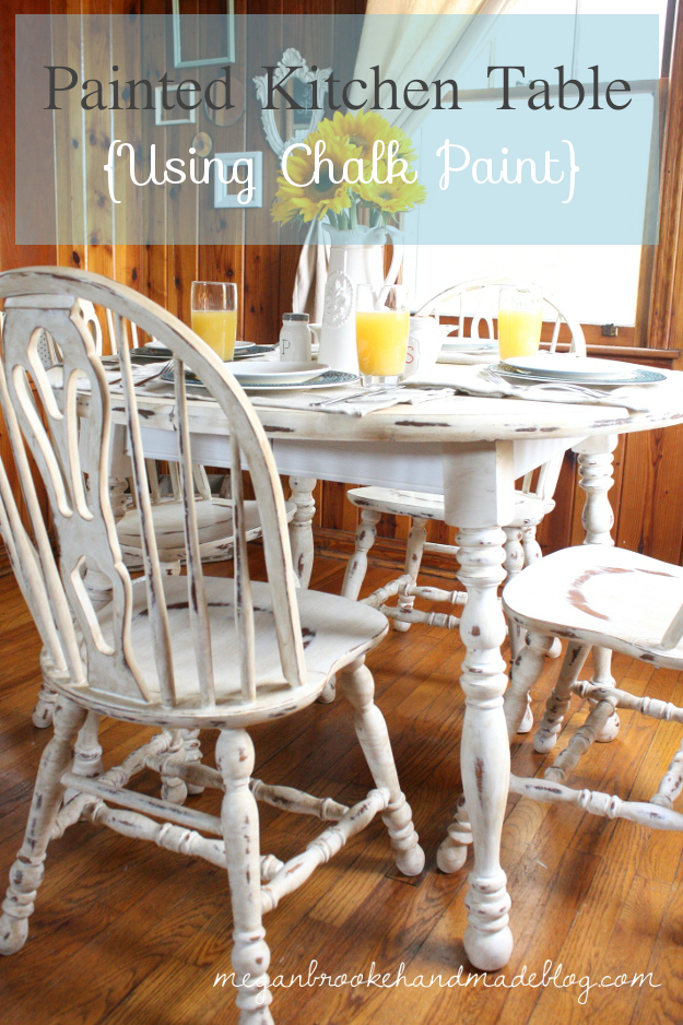 How to Revamp Your Old Kitchen Table {Using Chalk Paint} – Megan Brooke Handmade