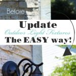 How to Update Outdoor Light Fixtures the EASY Way!