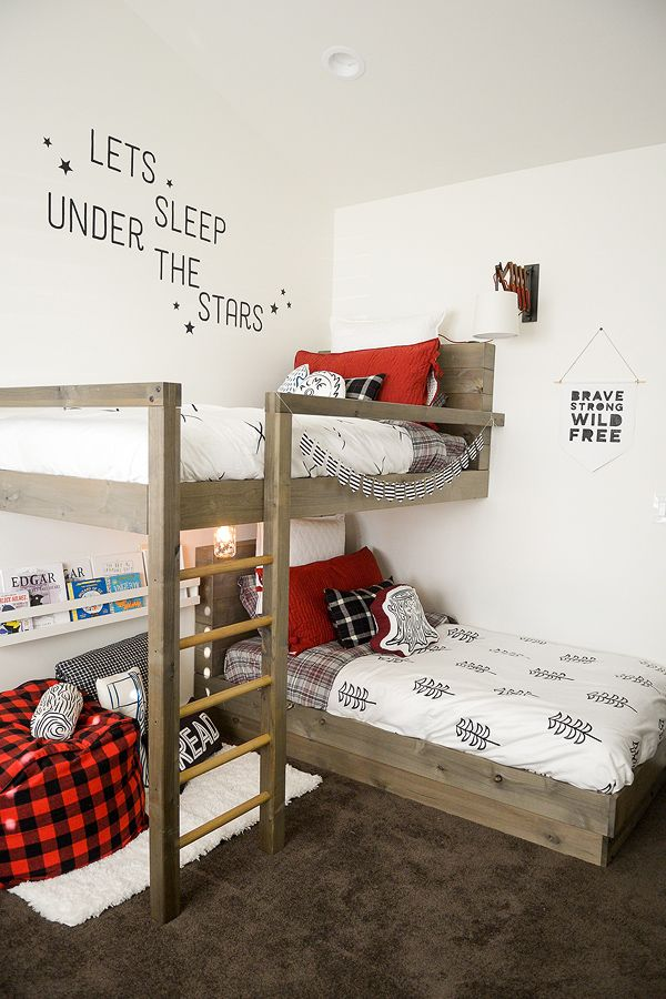 How to design and build the lumberjack bedroom bunk beds + FREE PLANS (Jenallyson – The Project Girl)