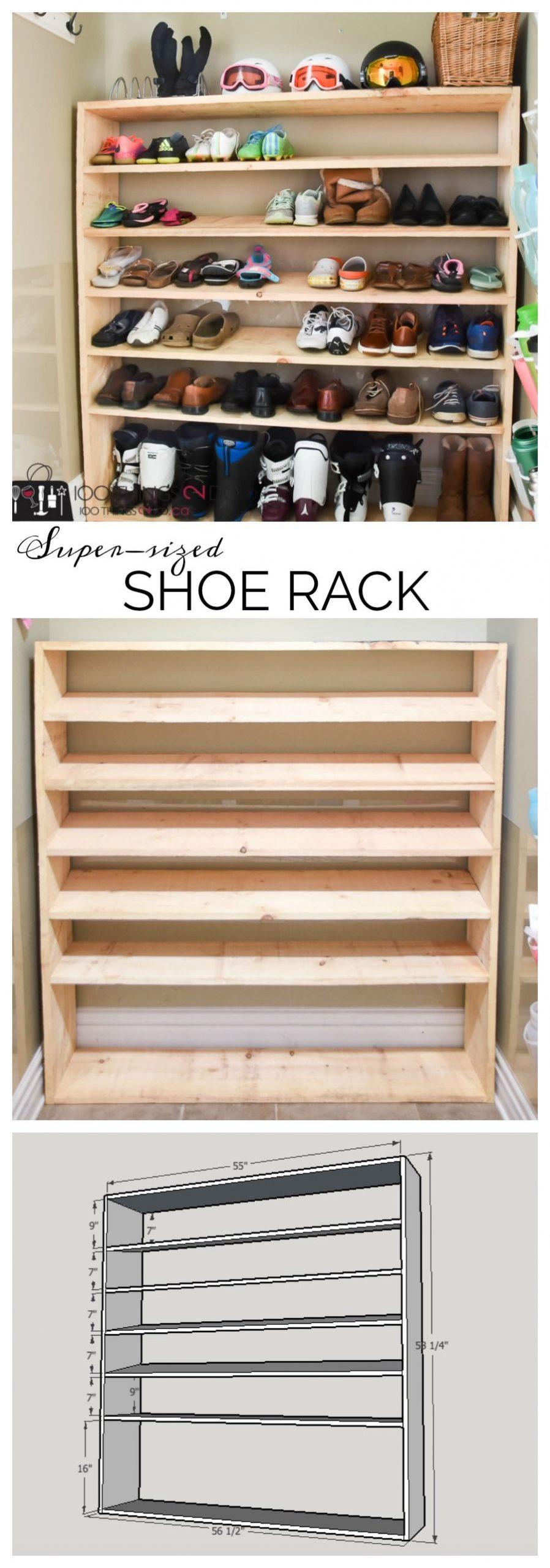 How to make a super-sized shoe rack on a budget