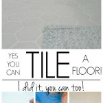 How to tile a bathroom floor -- don't let this DIY job intimidate you! This info...