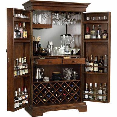 Howard Miller – Sonoma Americana Cherry Wine & Bar Cabinet – 695064