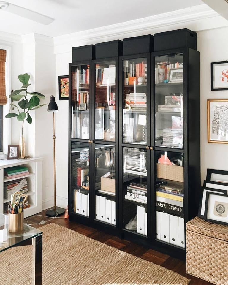 IKEA Billy Bookcase with glass doors – pickndecor.com/furniture