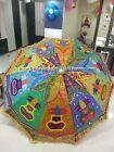 Indian Handmade Garden Umbrella Patio Outdoor Decorative Parasols Large Umbrella...