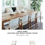 Indie Home wood and leather dining chair - copycatchic
