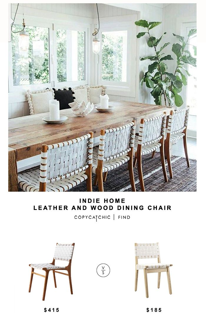 Indie Home wood and leather dining chair – copycatchic