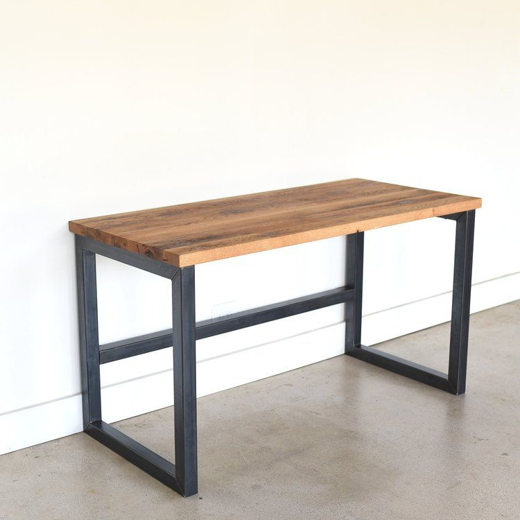 Industrial Reclaimed Wood Desk / 2″ x 2″ Metal Frame – WHAT WE MAKE