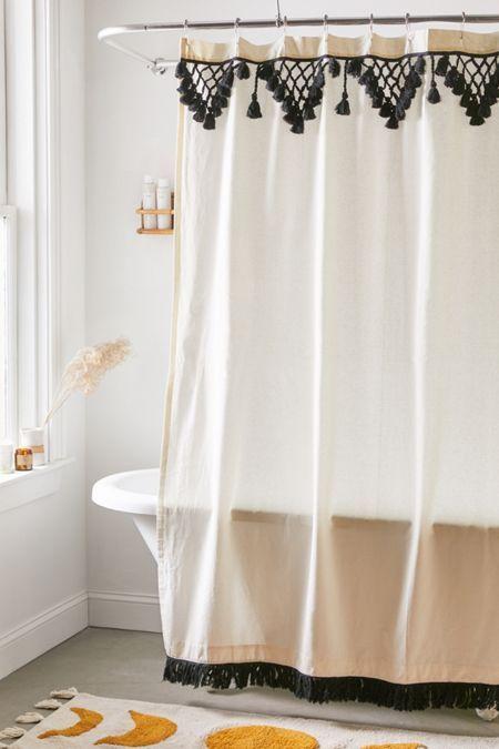 Inga Gauze Shower Curtain