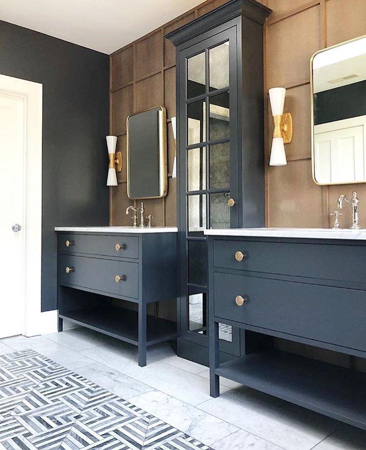 "Interior Design | Home Decor on Instagram: ""Bathroom goals!! Love everything about this!! Design by @jeanstofferdesign . . . . . #rusticmeetsmodern #rusticmodern #modernrustic…"""