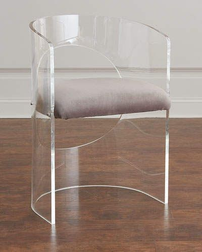 Interlude Home Vanessa Acrylic Circle Chair