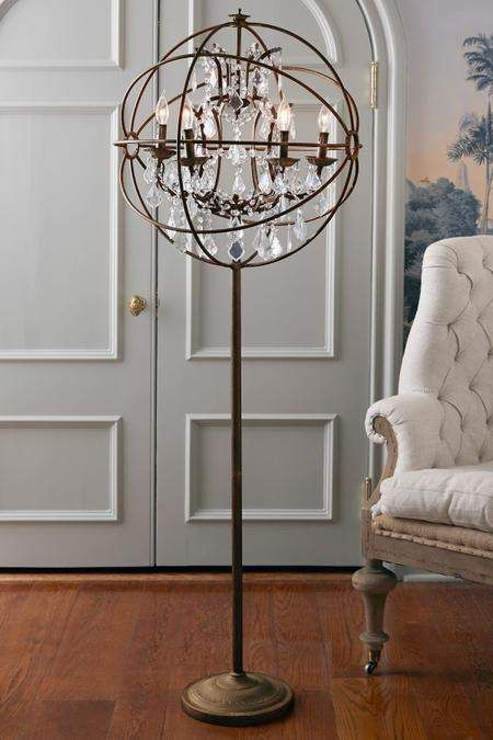 Iron Sphere Floor Lamp