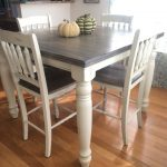 Items similar to Adjustable Counter Height Farmhouse Kitchen Dining Table Set on Etsy