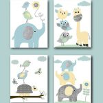 Items similar to Instant Download Wall Art Elephant Wall Art Giraffe Wall Art Digital Nursery Decor Baby Boy Nursery Art Digital Download set of 4 8x10 11X14 on Etsy