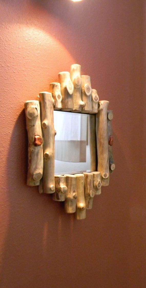 Items similar to Rustic log mirror – Wall mirror – Log furniture – Rustic decor – Cabin theme on Etsy