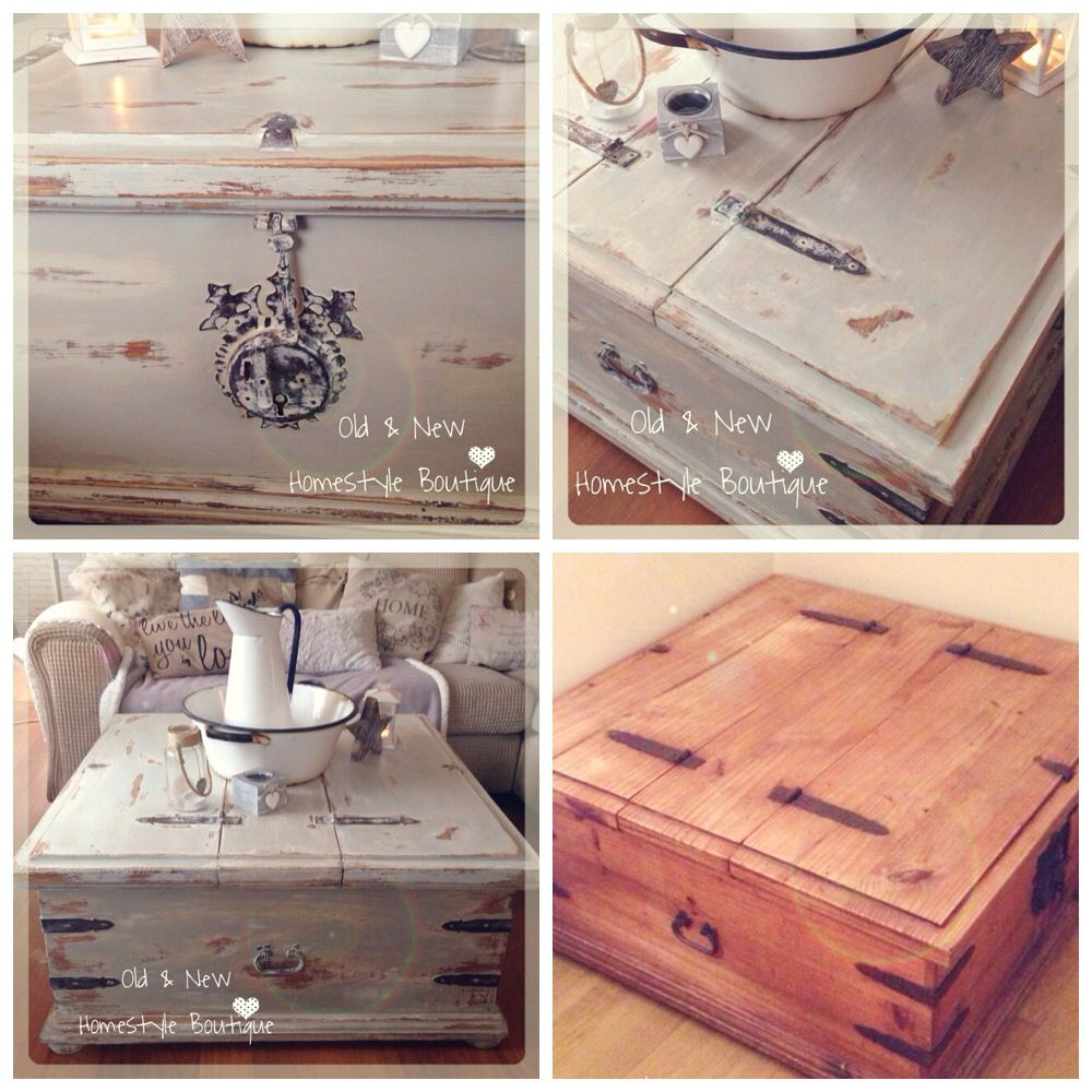 I've given this old Mexican pine chest a makeover using layered chalk paint & he…