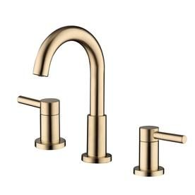 Jacuzzi Duncan Brushed Bronze 2-Handle Widespread WaterSense Bathroom Sink Faucet with Drain at Lowes.com