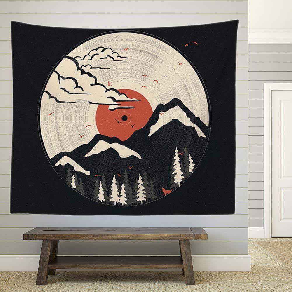 Japan Retro Mountain Wall Tapestry