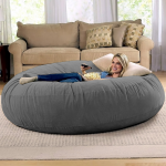 Jaxx 6 Foot Cocoon - Large Bean Bag Chair for Adults, Charcoal - Walmart.com