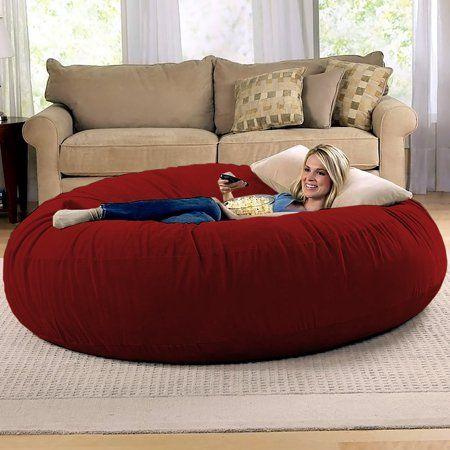 Jaxx 6 Foot Cocoon – Large Bean Bag Chair for Adults, Charcoal – Walmart.com