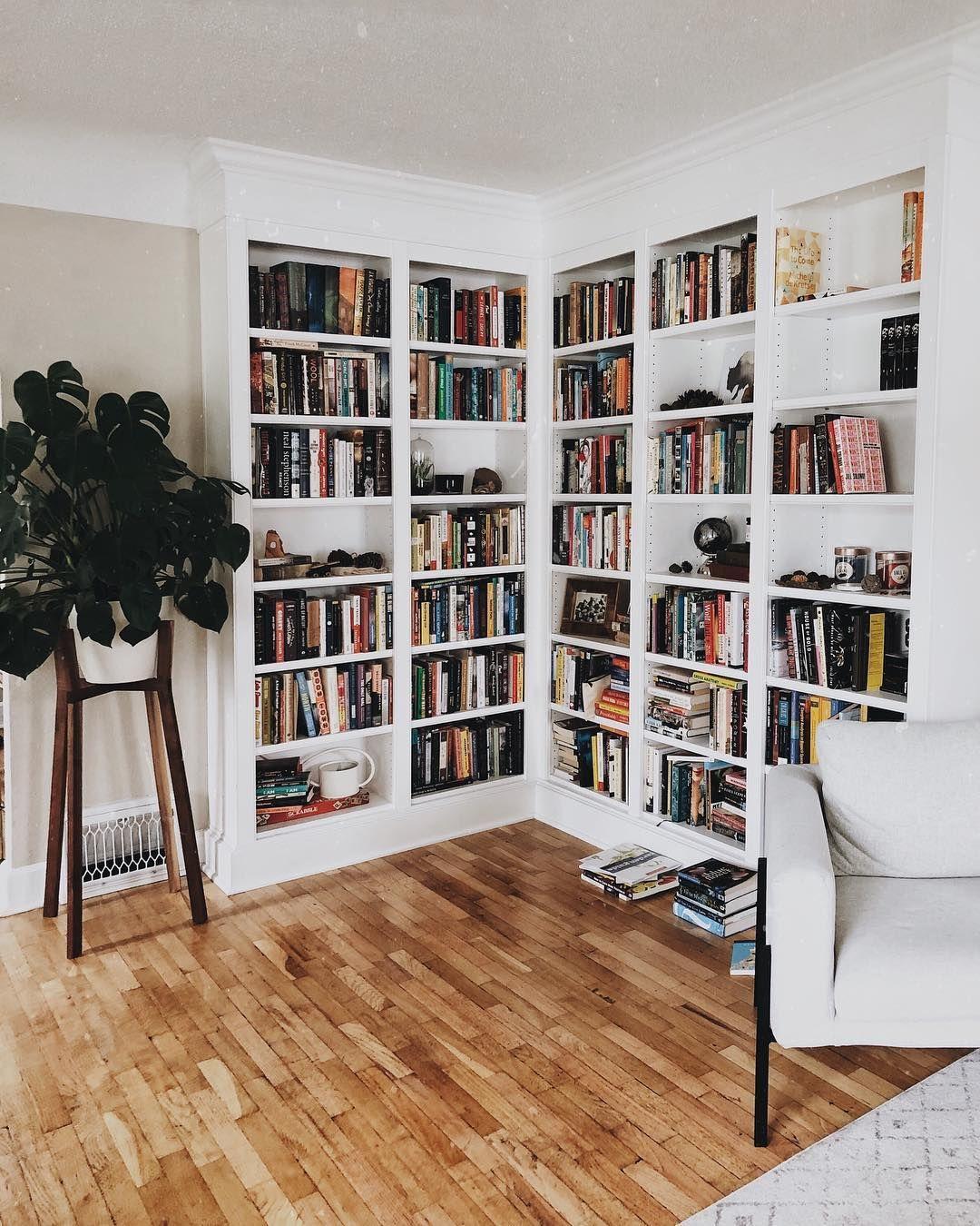 "Jenna on Instagram: ""Got some empty shelf space that needs filling 🤓 . . . . . #shelfie #bookshelves #bookshelf #builtins #bookish #bookstagram #bibliophile…"""