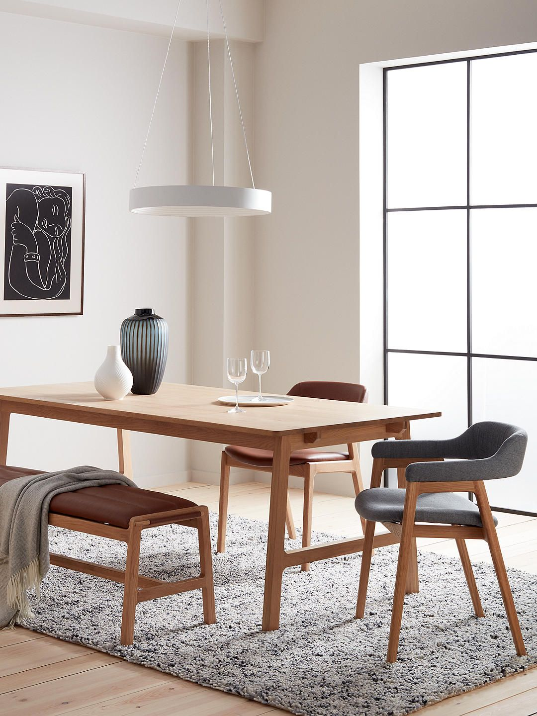John Lewis & Partners Santino 10-12 Seater Extending Dining Table, Solid Oak