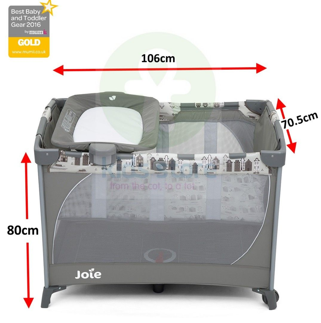 Joie Commuter Change Travel Cot with Carry bag and Bassinet (Petite City)