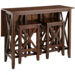 Kenzie Mahogany Brown Breakfast Table Set