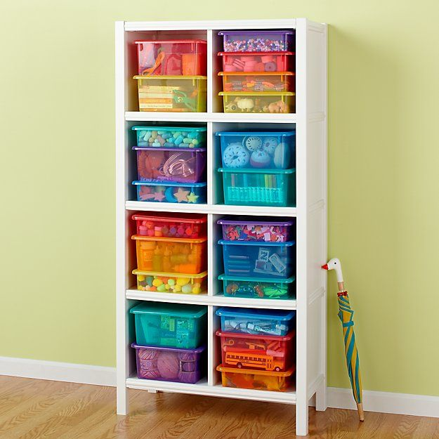 Kids' Storage Containers: Kids Colorful See-Through Stackable Box | Crate and Barrel