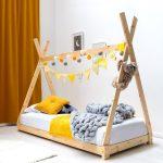 Kids Tent Tipi Canopy Bed Frame