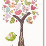 Kids wall art - nursery art prints - baby nursery decor - nursery art -  Birds Tree Pink - Tree Of Love print  by GalerieAnais