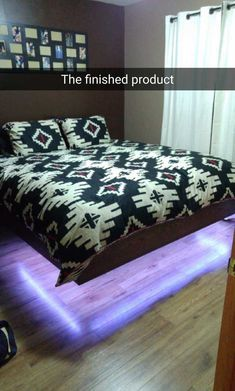 King Size Floating Bed Frame with LEDS!