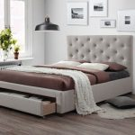 Kingston Oat White Queen Bed with Storage