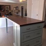 Kitchen Island with Seating and Tapered Legs