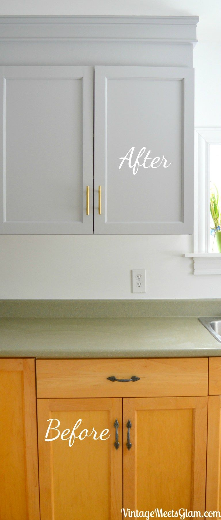 Kitchen Reno Part 3: Painting Builder Grade Cabinets