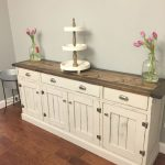 Kitchen Sideboard Buffet interior: white sideboard buffet cabinet diy wood top country pretty doors HJWRELJ - Kitchen Ideas