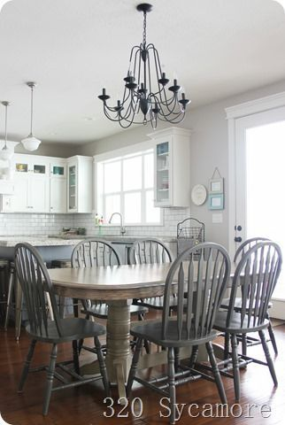 Kitchen table and chairs makeover (320 * Sycamore) – pickndecor.com/design