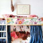 Kura letto, Ikea, vibrante floreale Sticker Set, PACK di 5, Floral, riutilizzabili, buccia e bastone, rimovibile, Kids room decor #18