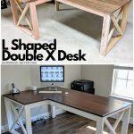 L Shaped Double X Desk