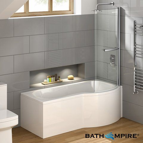 L Shaped Shower Baths | Right & Left Hand L Shaped Baths | soak.com