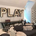 "LINEN & FLAX CO. on Instagram: ""Take a look at our recent project...Playroom Dreams! Every inch of this space is filled with form, function and whimsy! The black and white…"""